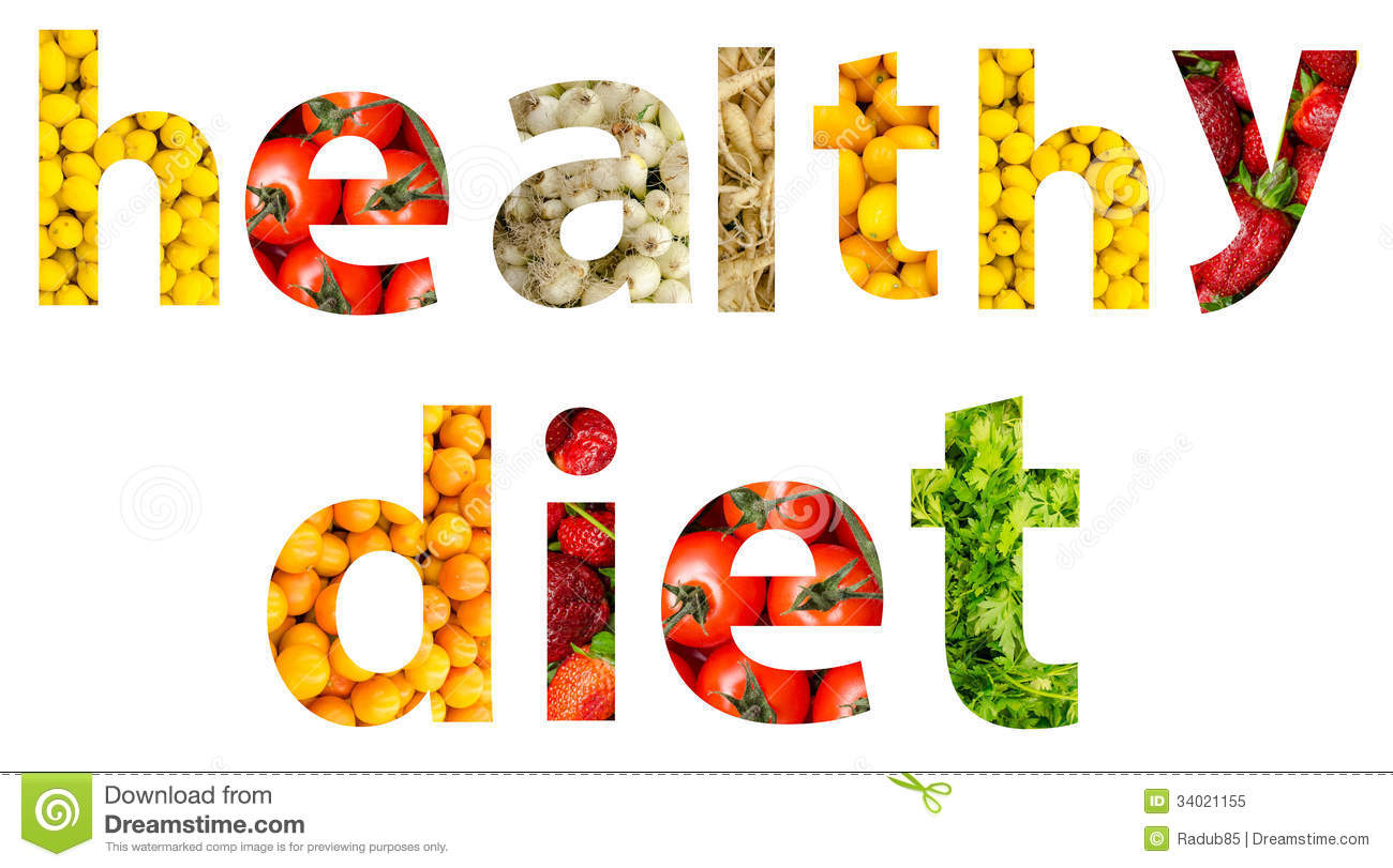 Fruits And Vegetables Diet Word