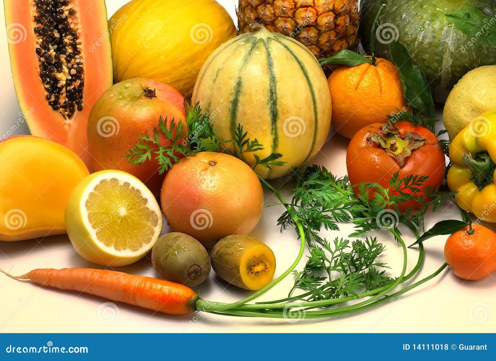 Orange Vegetables And Fruits Fruits And Vegetables ...