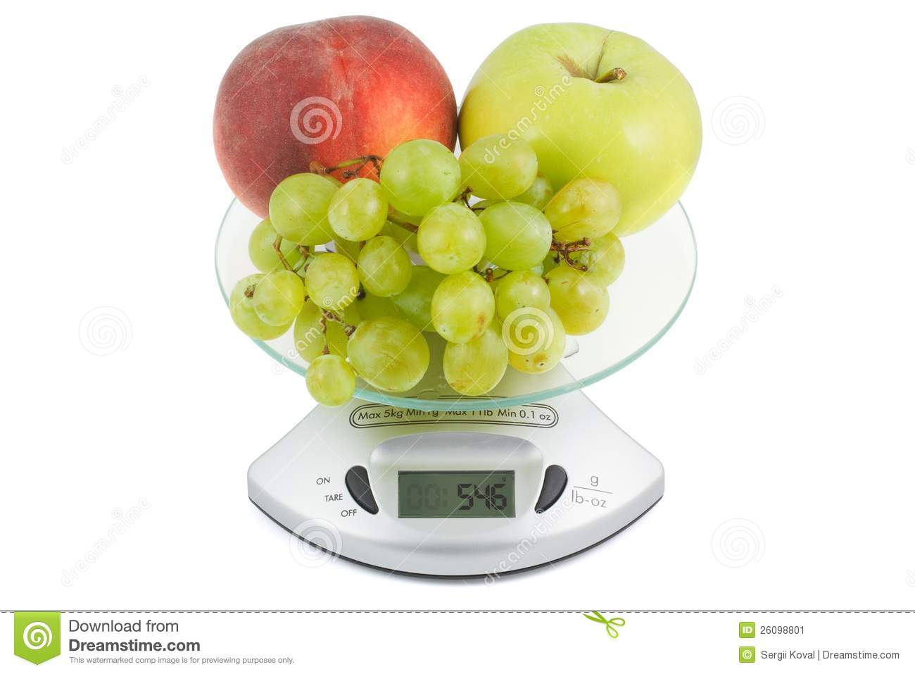 Fruits Weigh In The Balance Stock Image