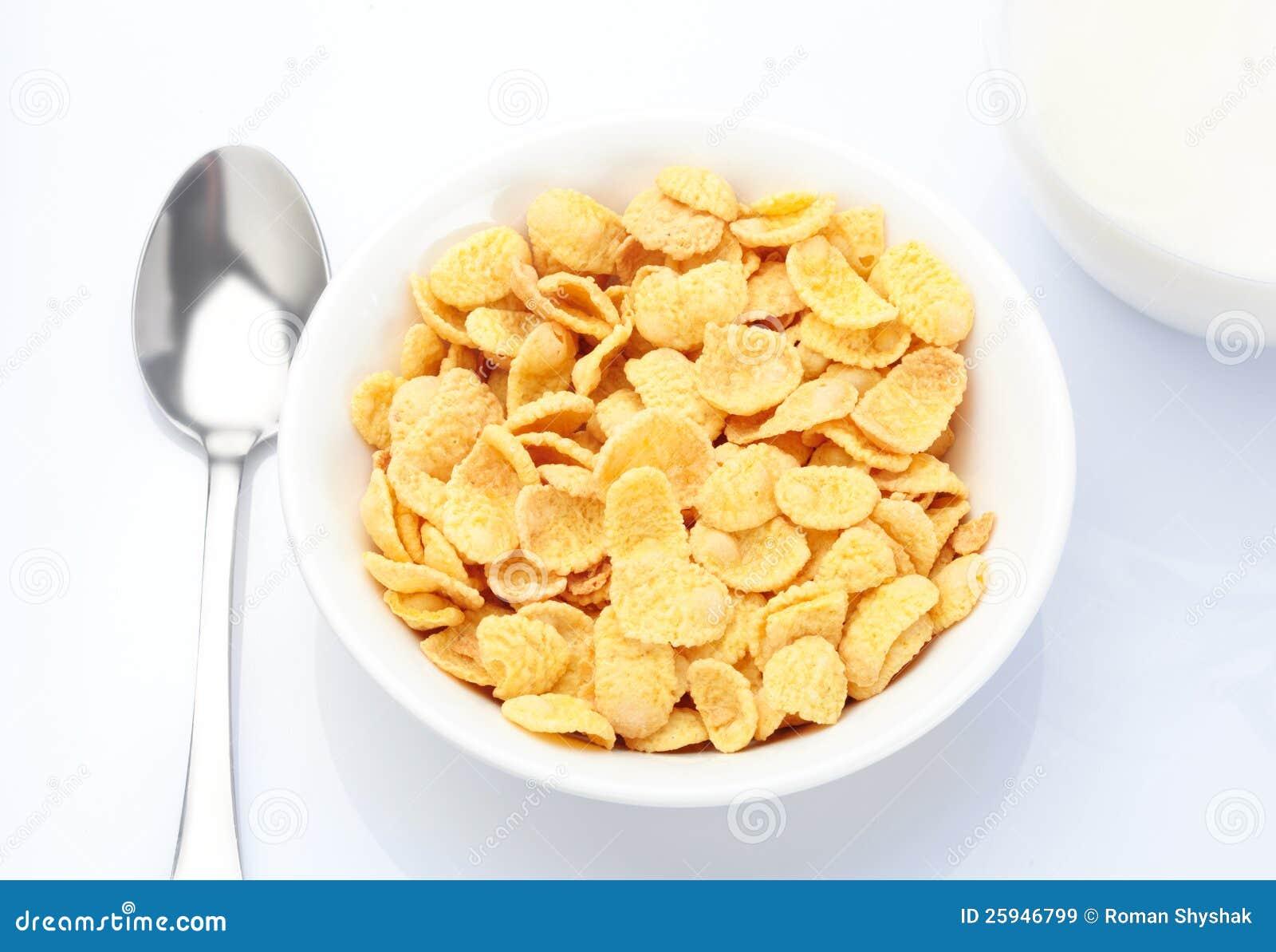 Frukost med corn-flakes