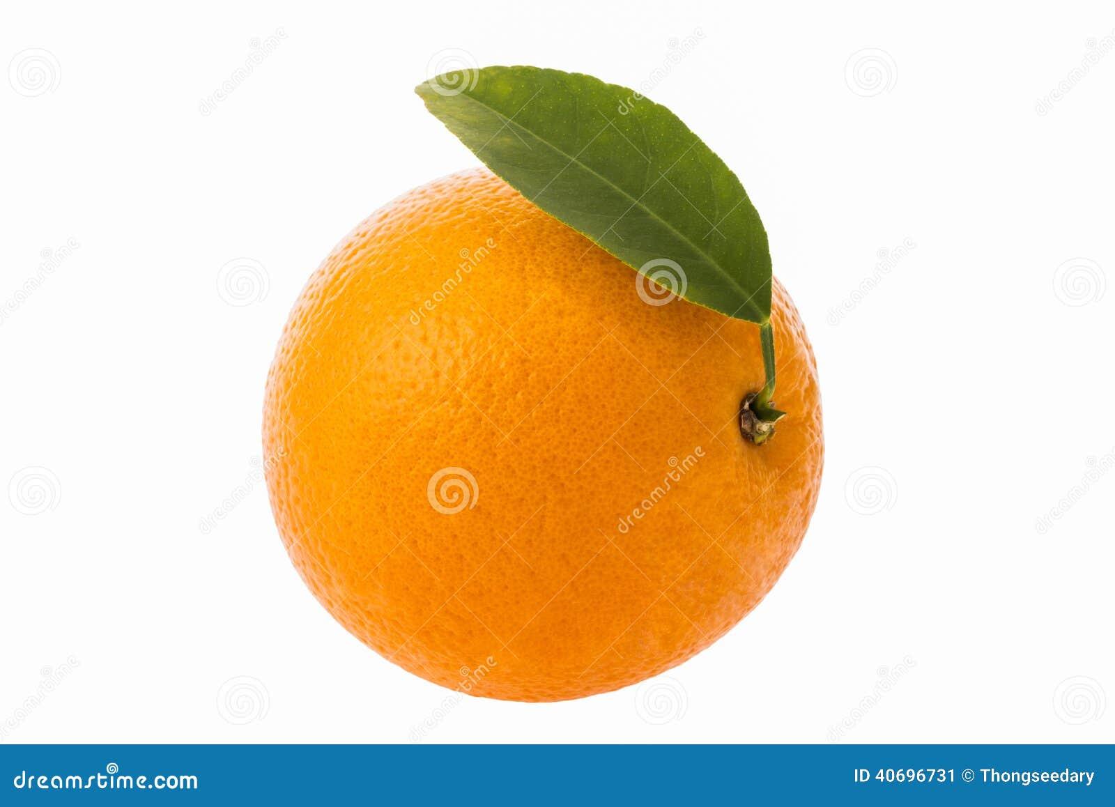 Frukt isolerad orange