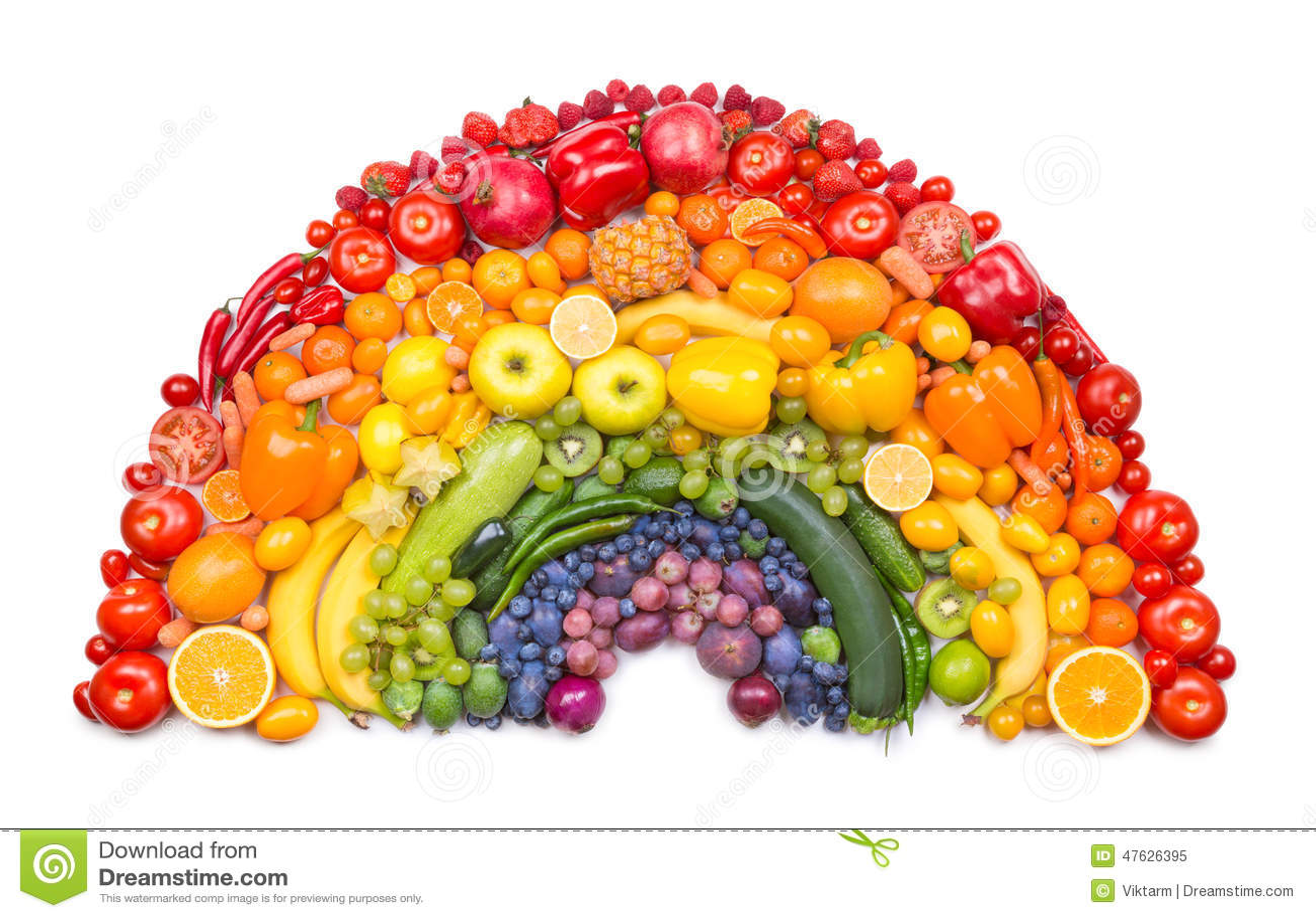 Frukt- och grönsakregnbåge