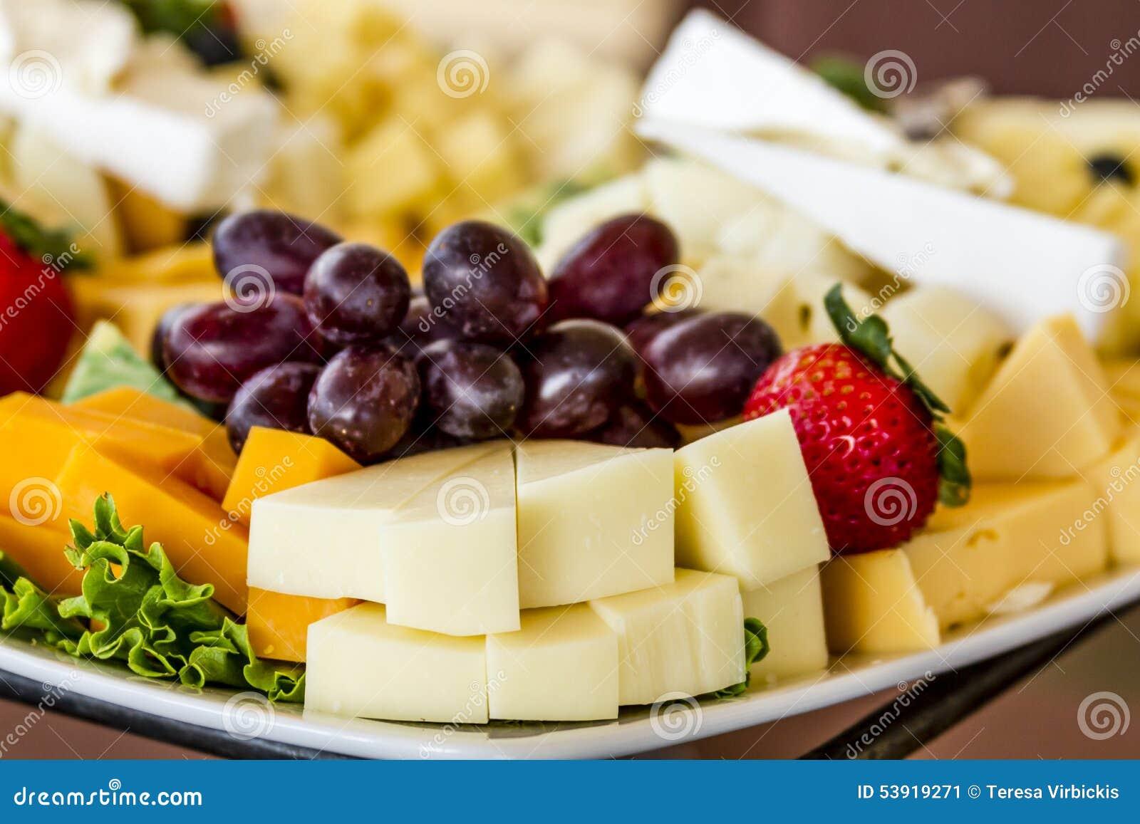 Frukt- och ostmagasin på skärm