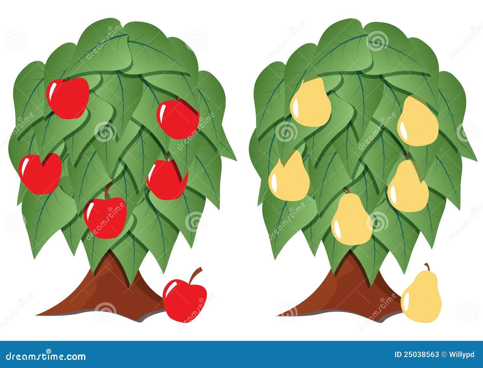 Frukt stylized tree