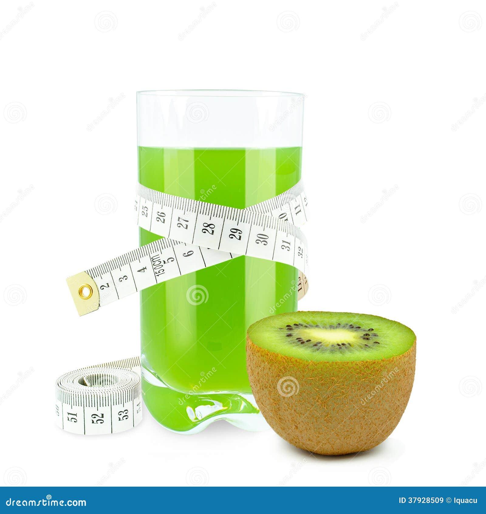 Fruktsaft med kiwin och metern