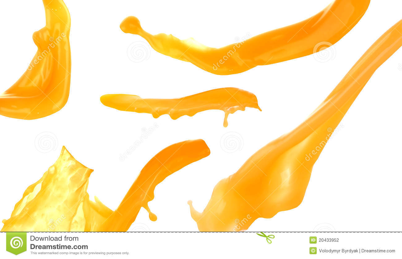 Fruktsaftorangefärgstänk
