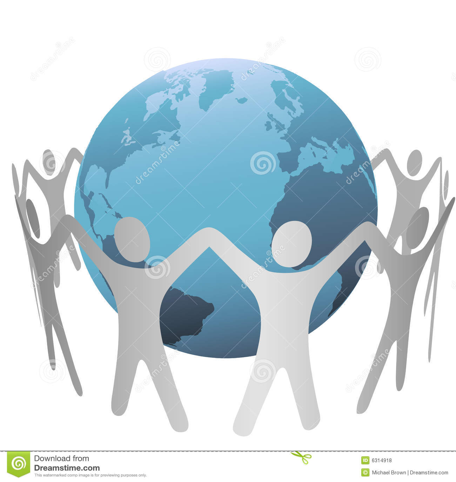Frunce del círculo de la gente alrededor de la tierra