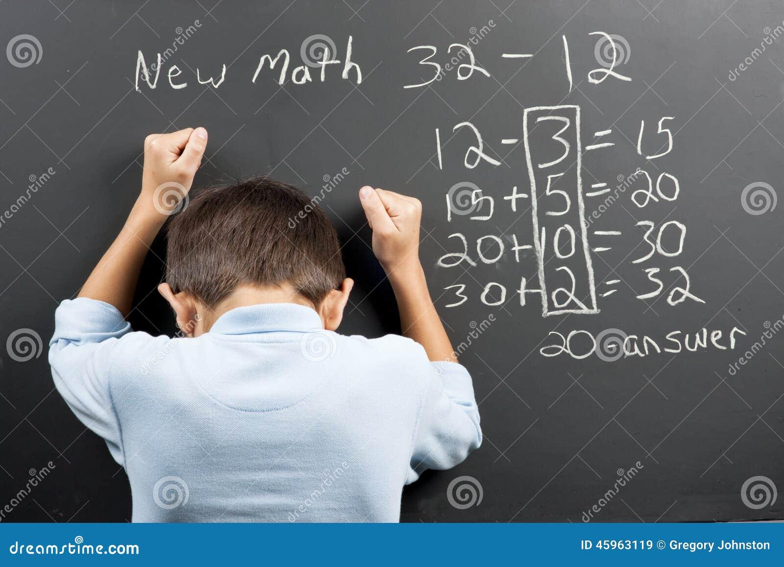 Frustré aux nouvelles maths