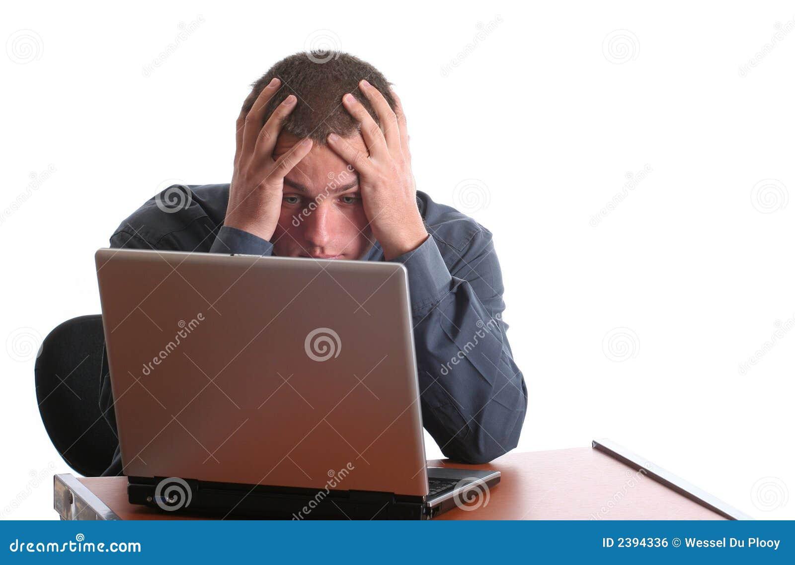 Frustração do computador, esforço