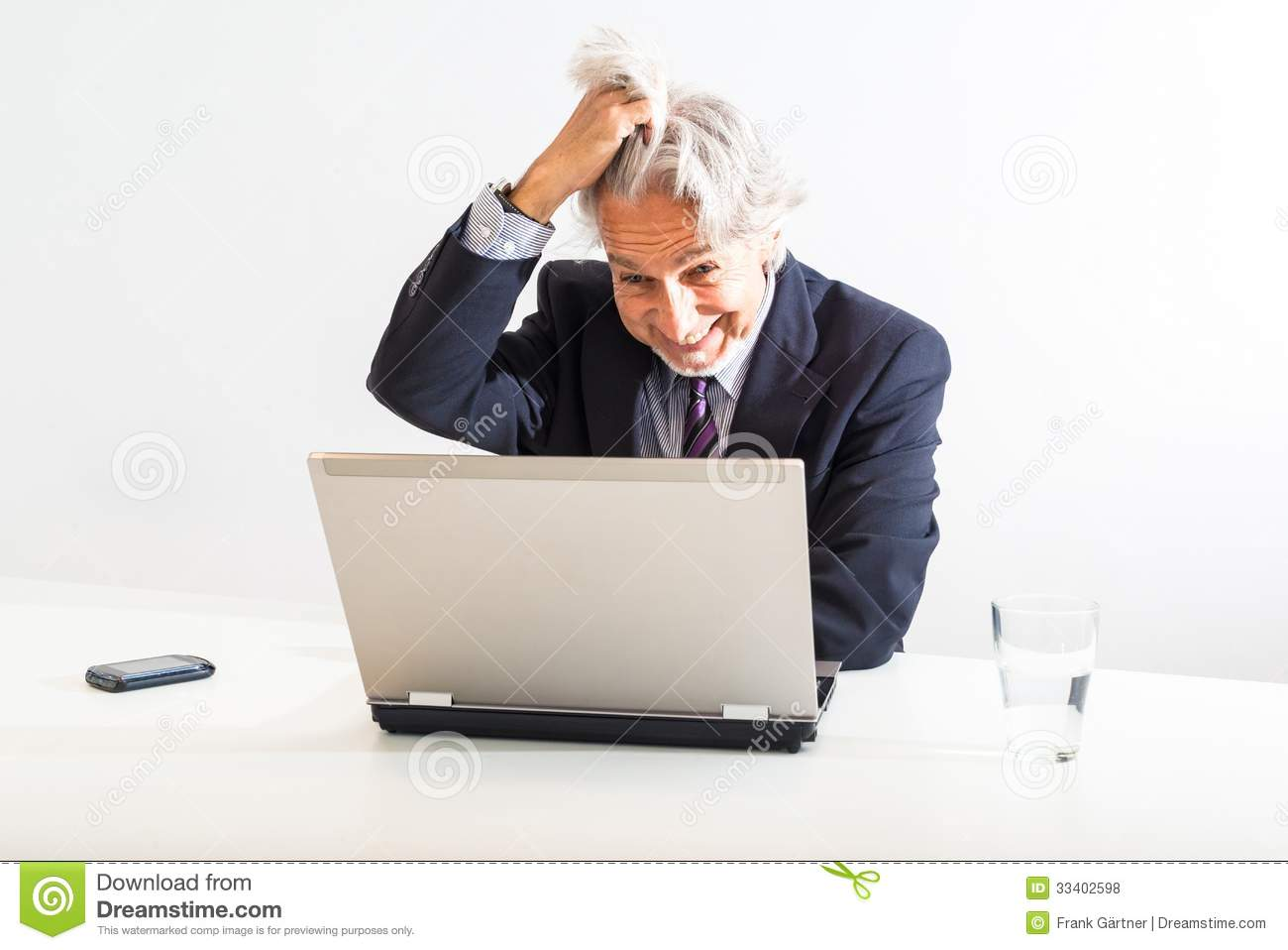 Frustrated Businessman Stock Photo Image Of Desk Caucasian