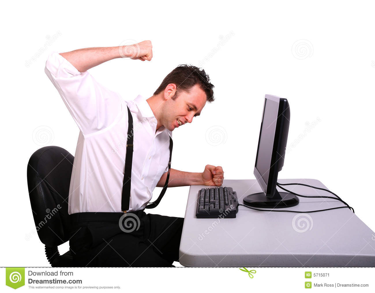 Frustrated Computer Operator Stock Image - Image: 5715071