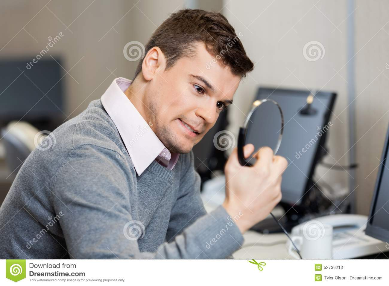 Frustrated office worker on the phone holding stock photo image - Frustrated Customer Service Representative Holding Stock Photos
