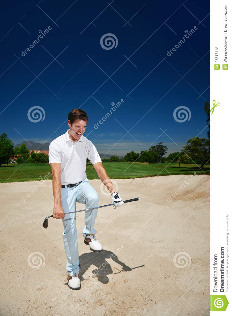 Frustrated golf