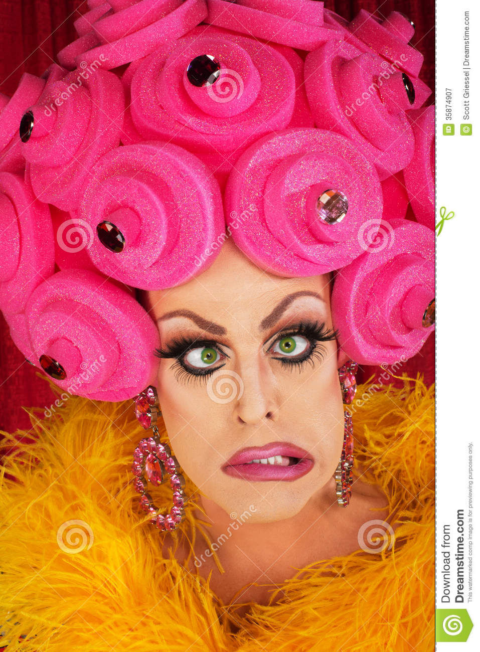 Frustrated Man In Drag Stock Image Image Of Beautiful