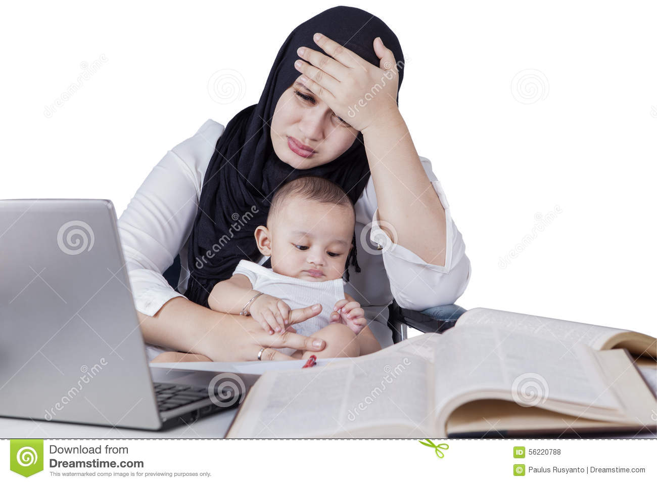 Image result for working mother with baby