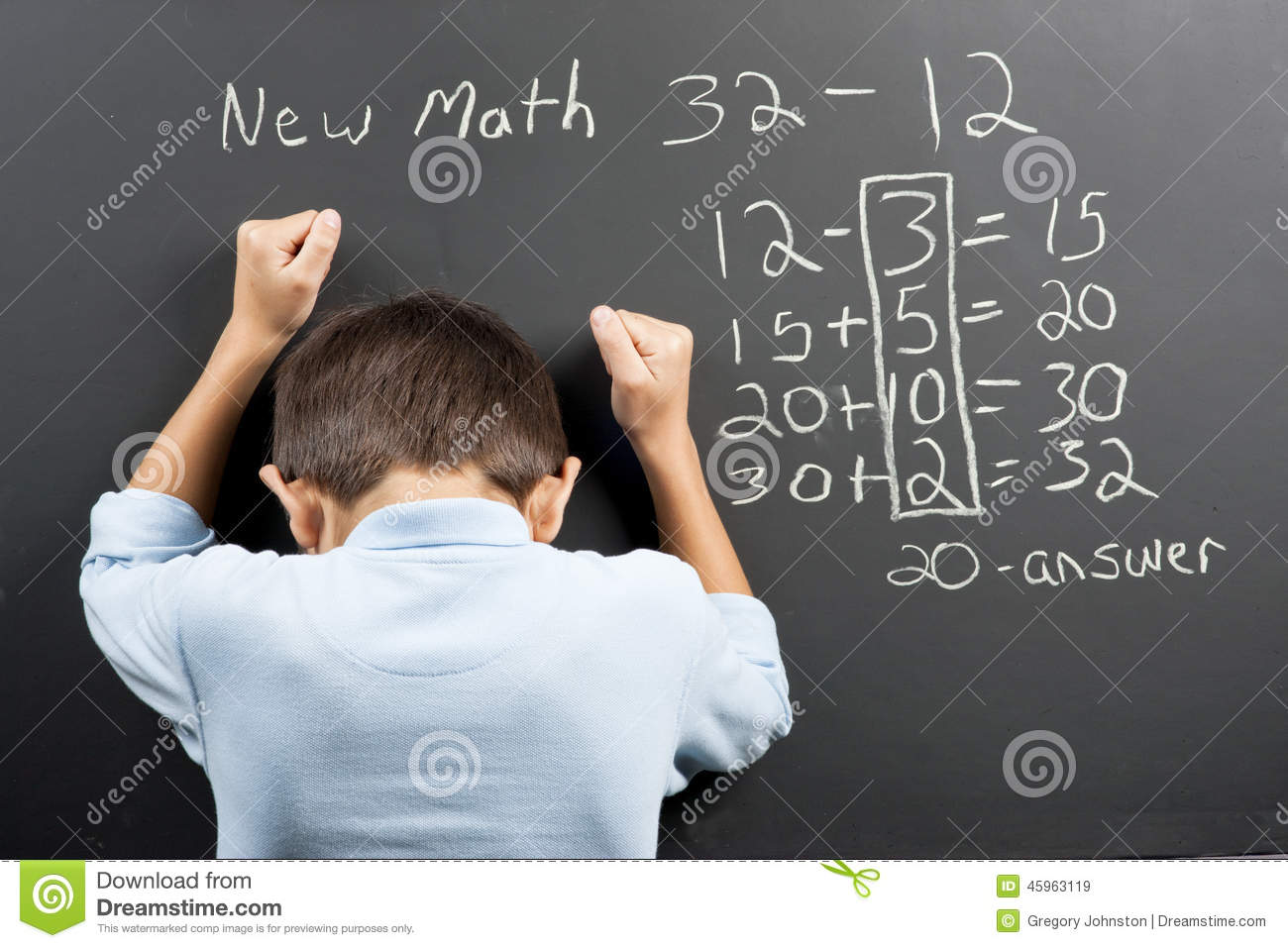 Frustrated At The New Math. Stock Image - Image of math, confusing ...