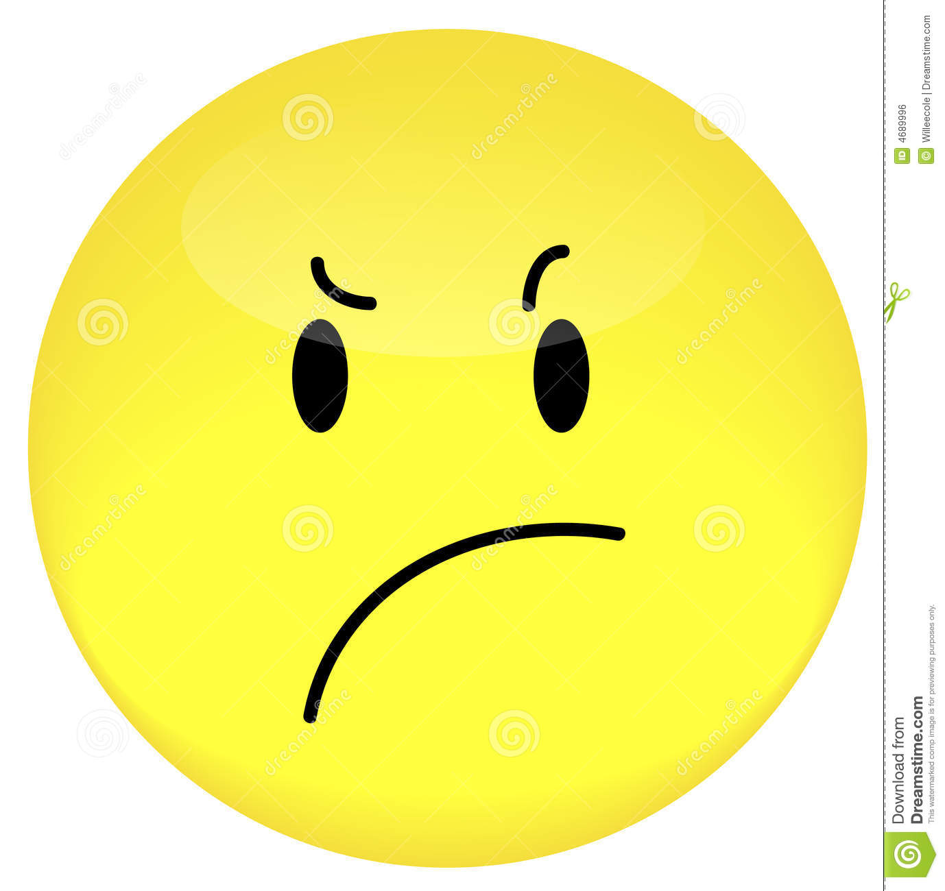 Smiley face with frustrated or angry expression - vector Frustrated Emotion
