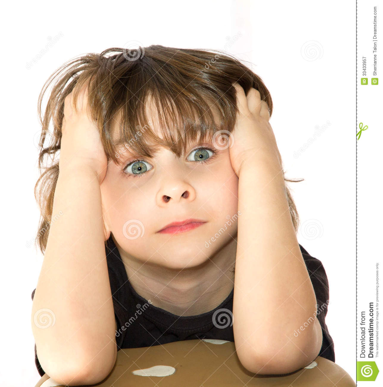 Frustrated young boy stock image. Image of hands, stresses ...