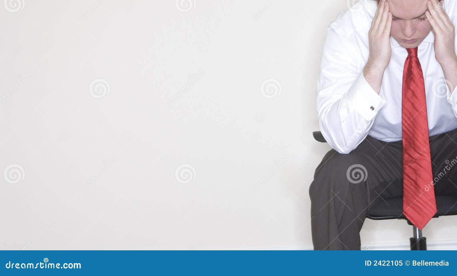 Frustration for businessman