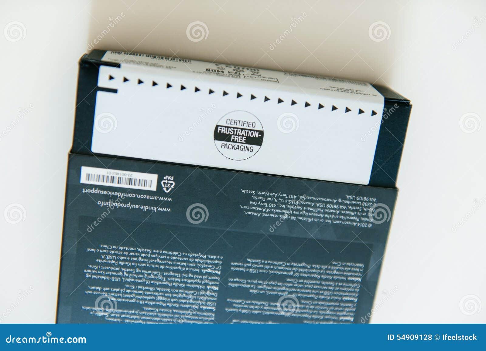 Frustration-fritt förpacka för amason av den nya amasonen Kindle