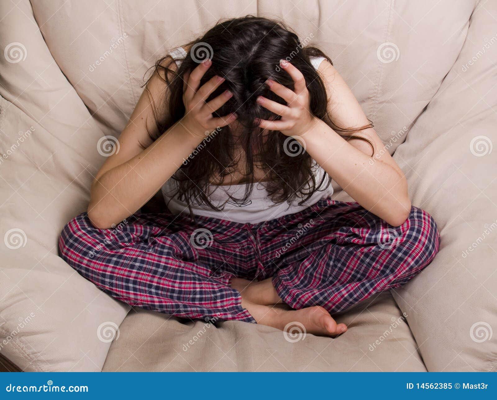 Frustrazione teenager femminile