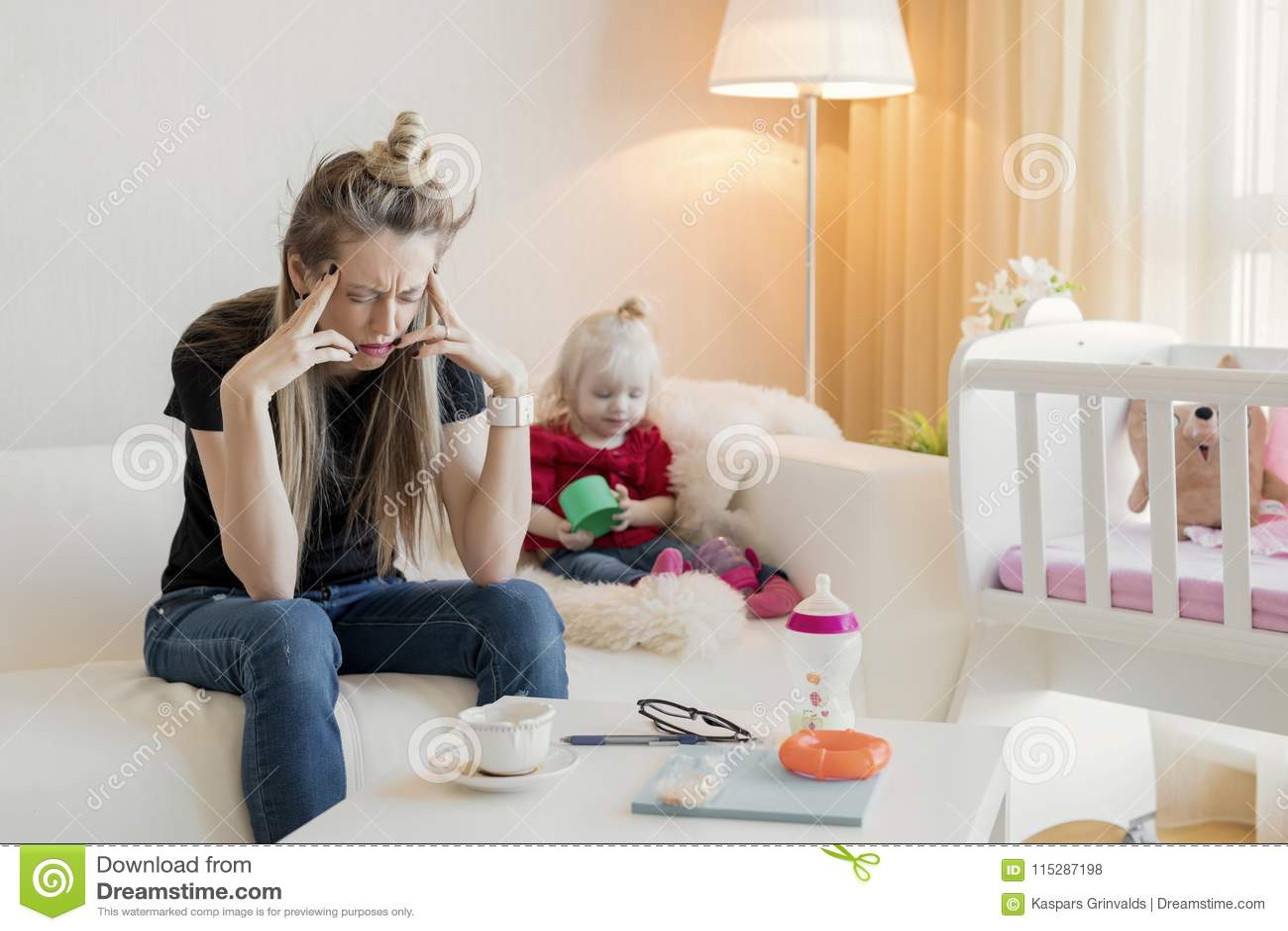Frustrerad evakuerad mammakänsla