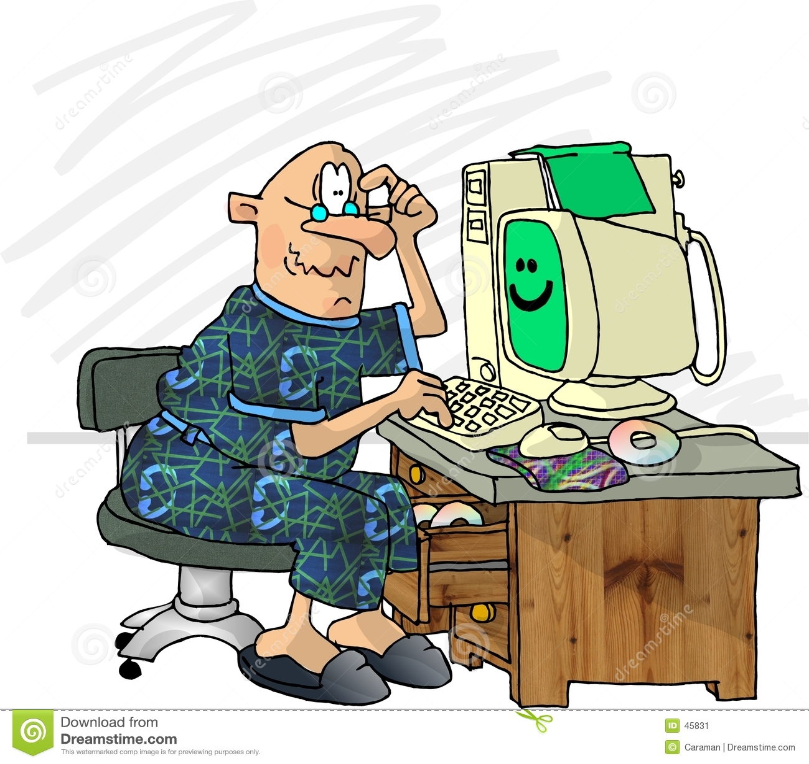 Frustrierter Computer-Benutzer