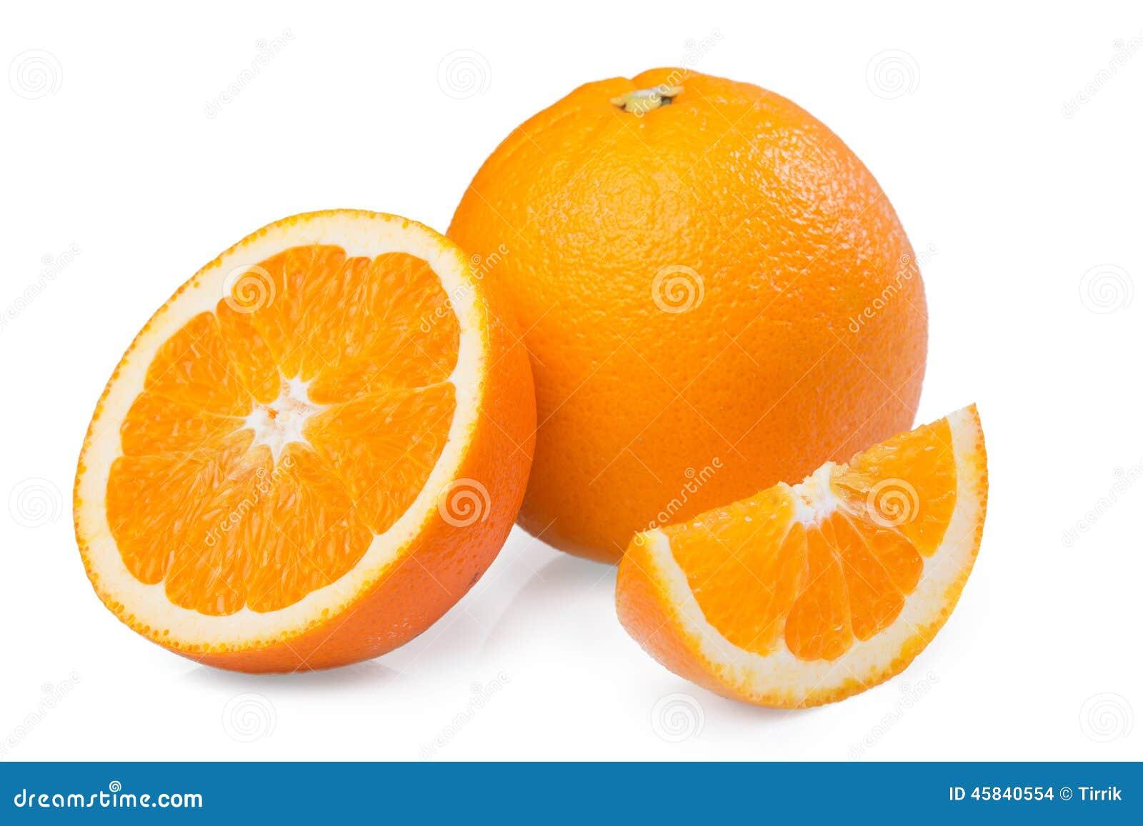 Fruta anaranjada rebanada