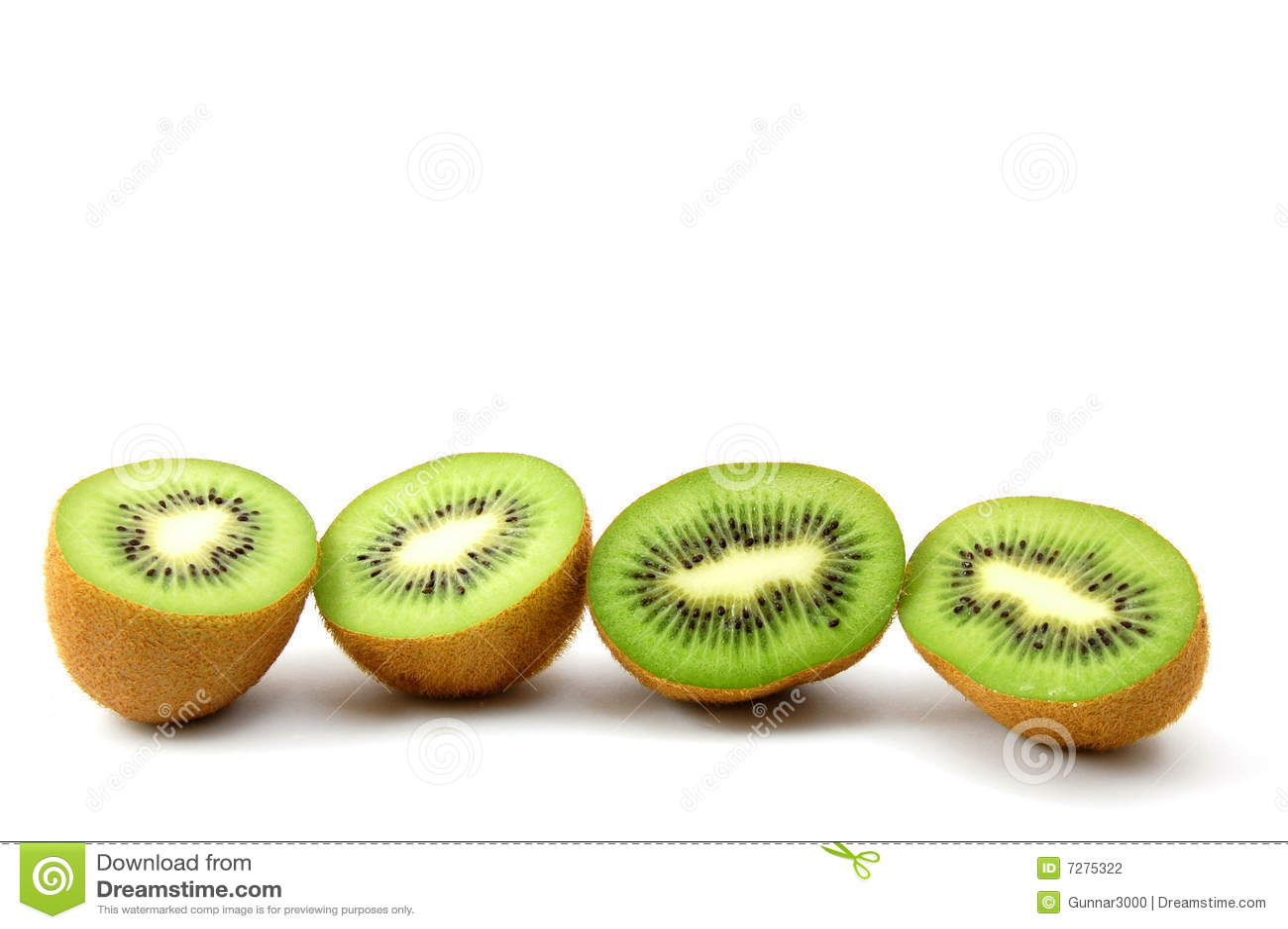 Fruta de kiwi aislada en el fondo blanco