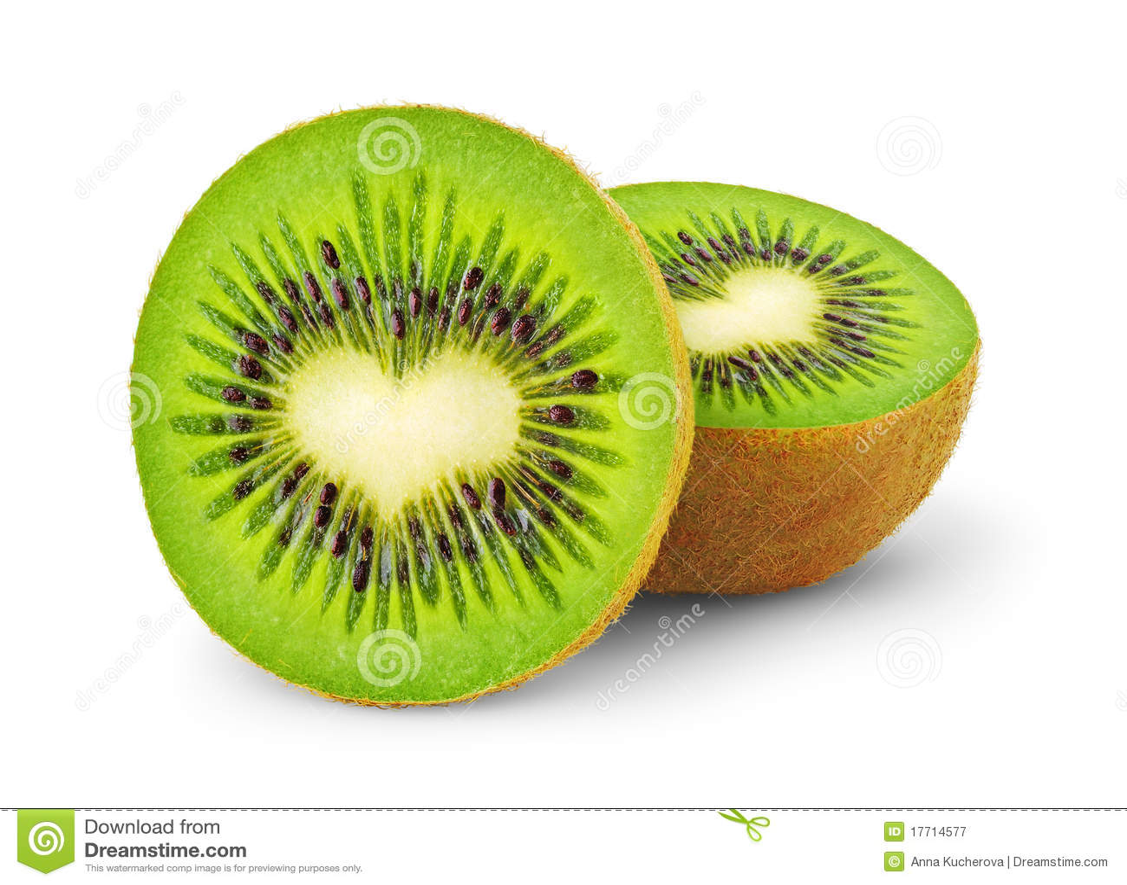 Fruta de quivi Heart-shaped
