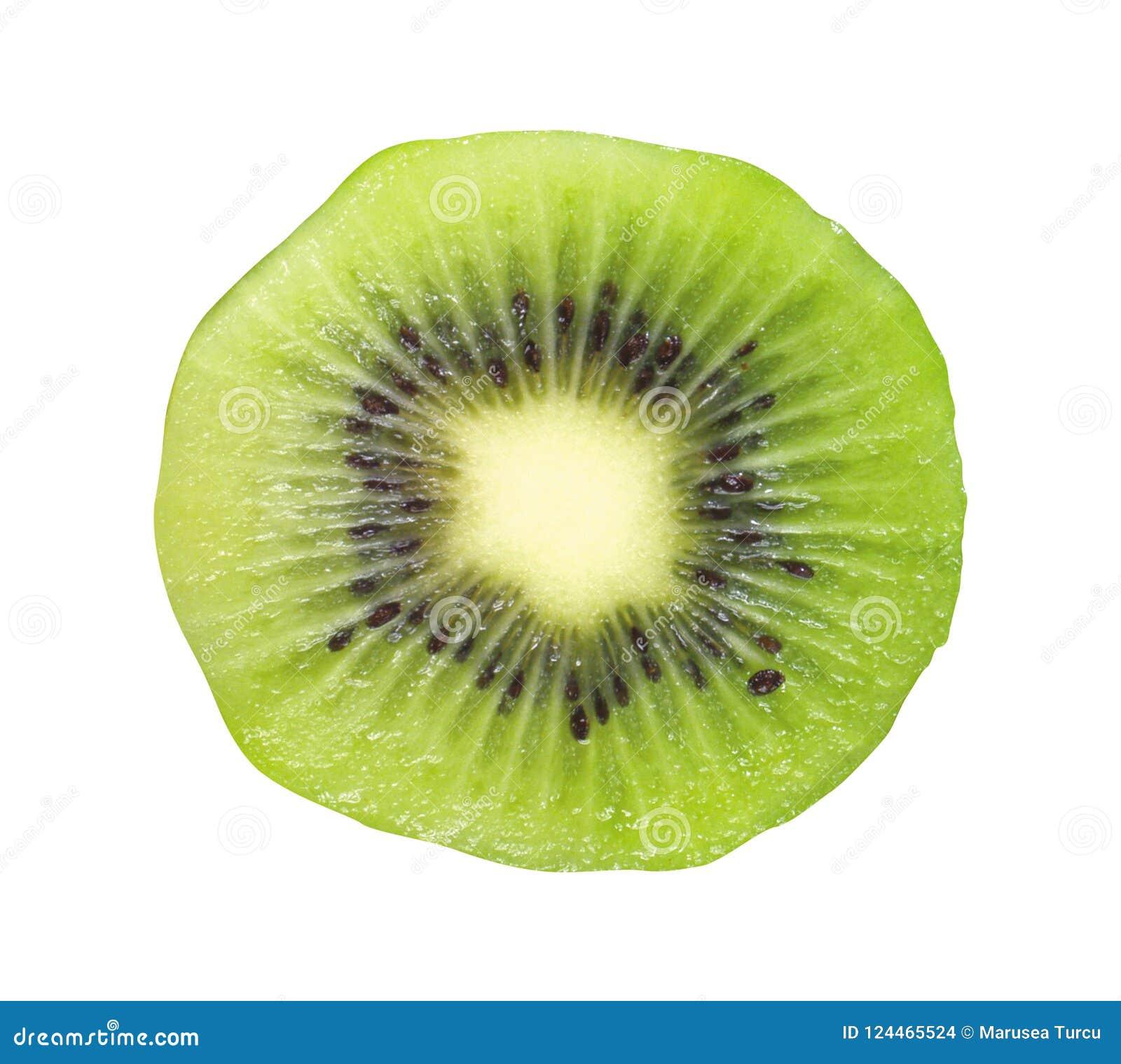 Fruta de quivi isolada no branco