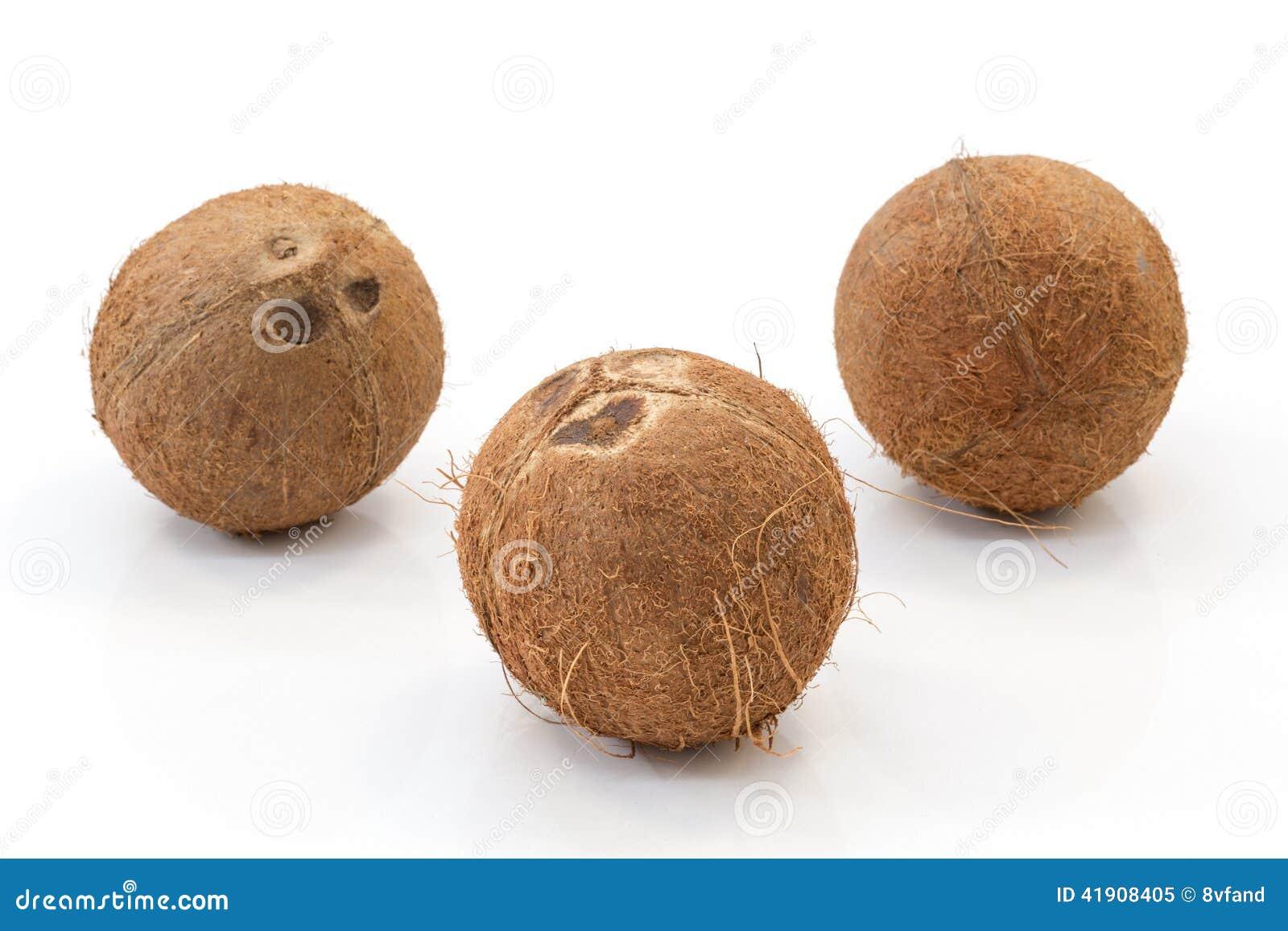 Fruta del coco aislada seg?n lo cortado