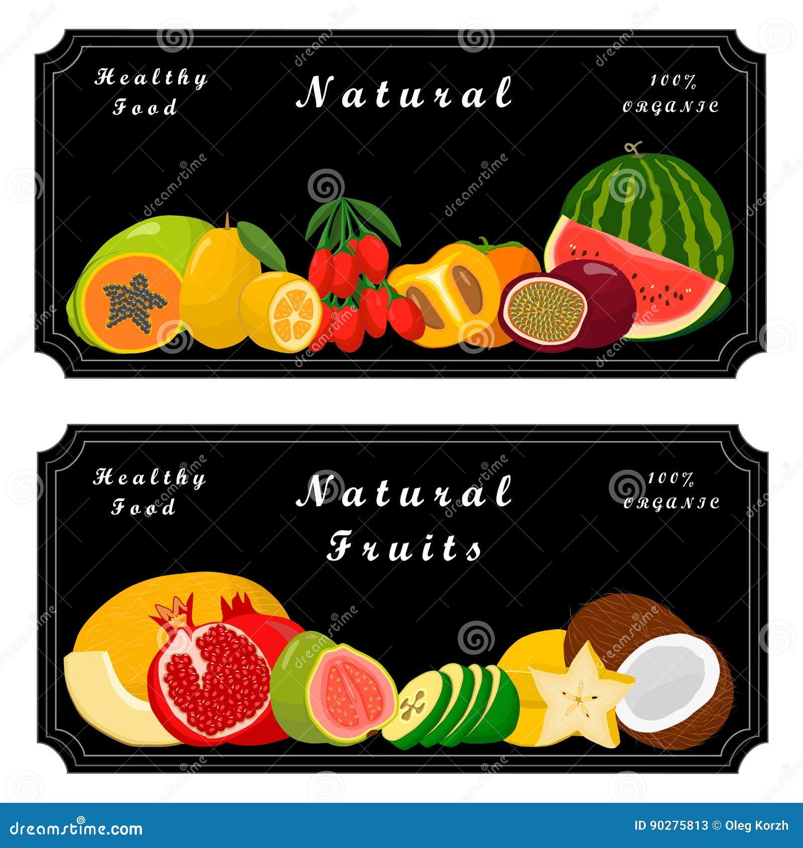Fruta del logotipo