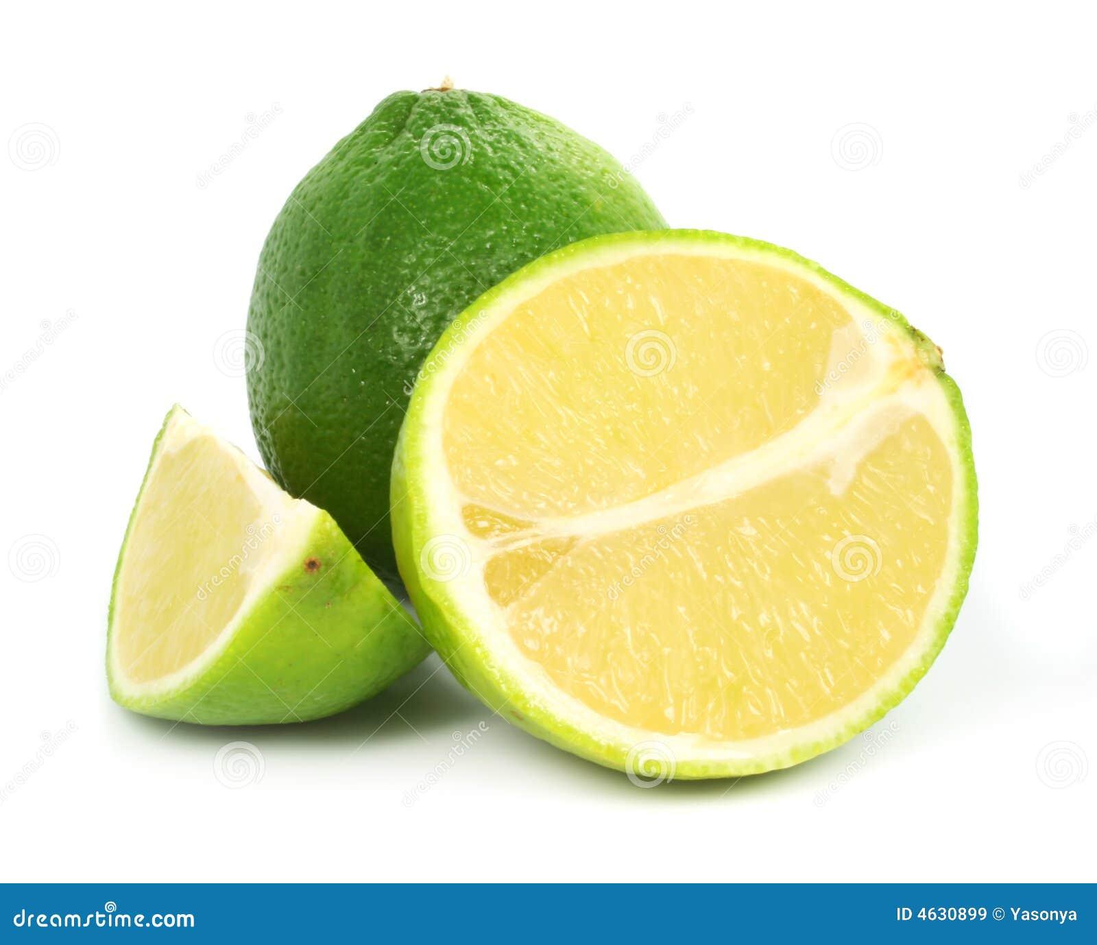 Fruta exótica do cal verde