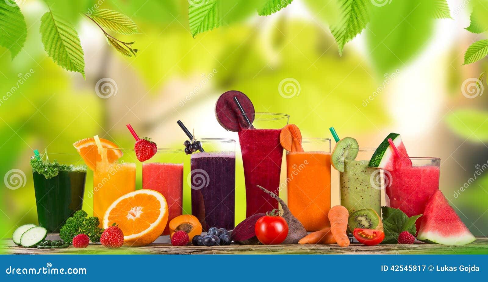 Fruta fresca de la mezcla del jugo