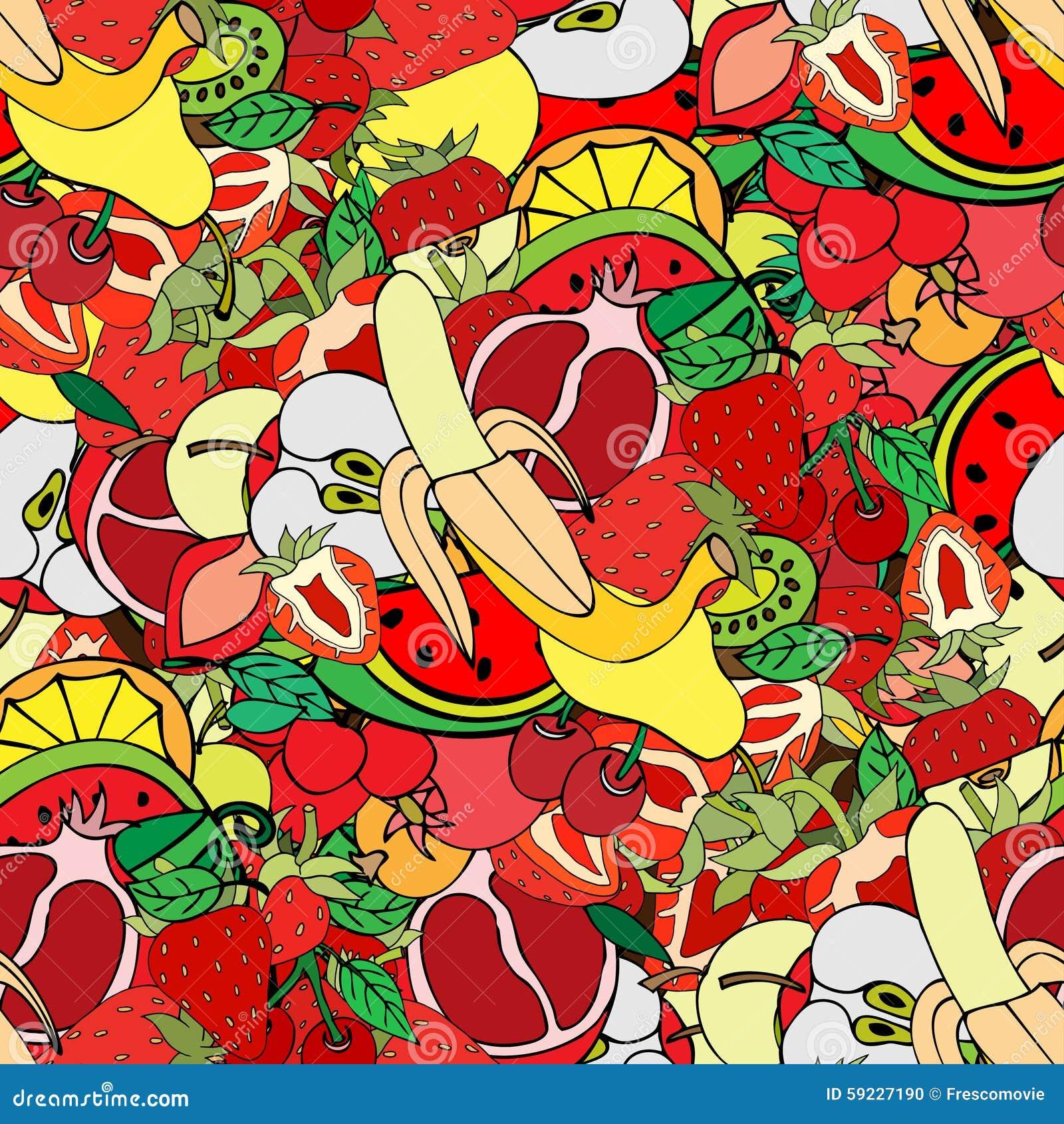 Download Frutas ilustración del vector. Ilustración de sano, fruta - 59227190