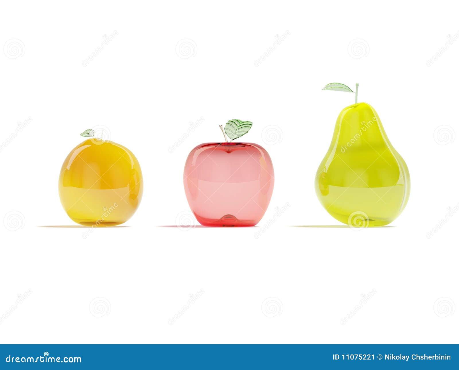 Frutas de cristal imagen de archivo imagen 11075221 for Frutas de cristal