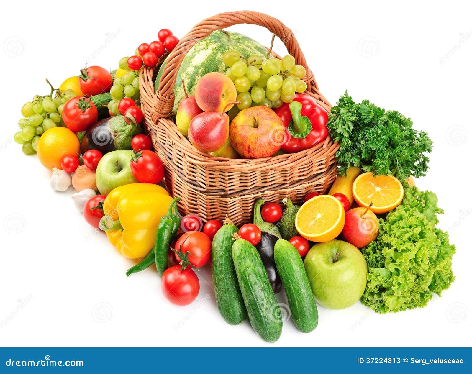frutas e legumes na cesta imagem de stock imagem de grupo 37224813. Black Bedroom Furniture Sets. Home Design Ideas