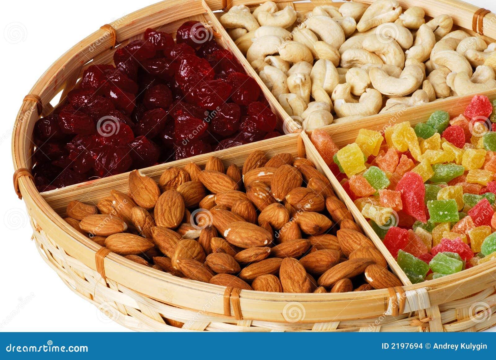 Frutas e porcas secas