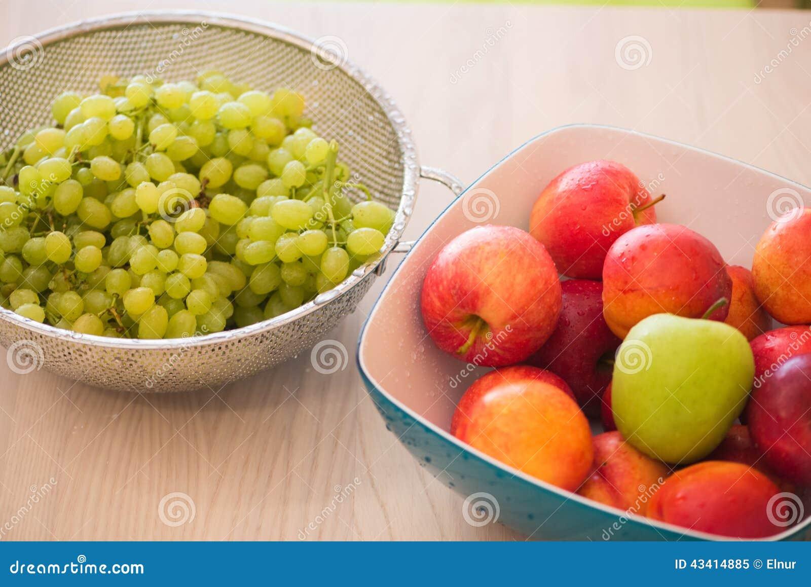 Frutas en el bown