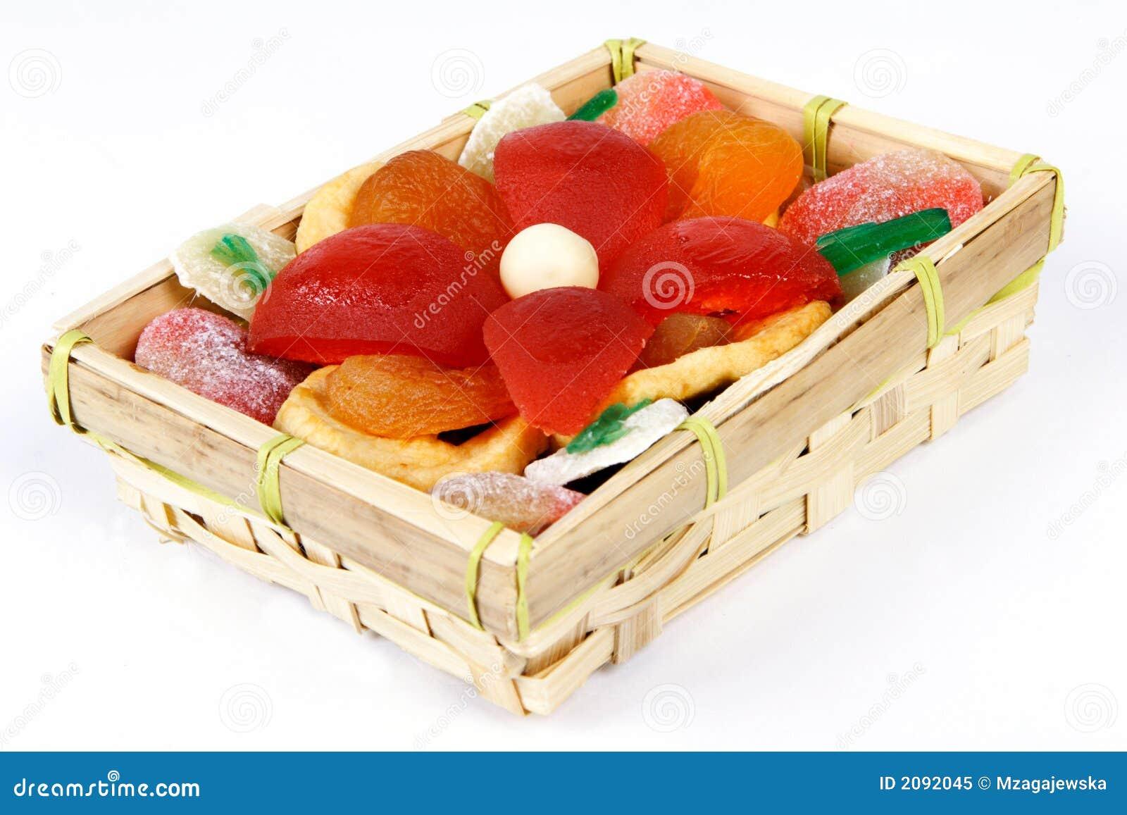 Frutas escarchadas y secadas