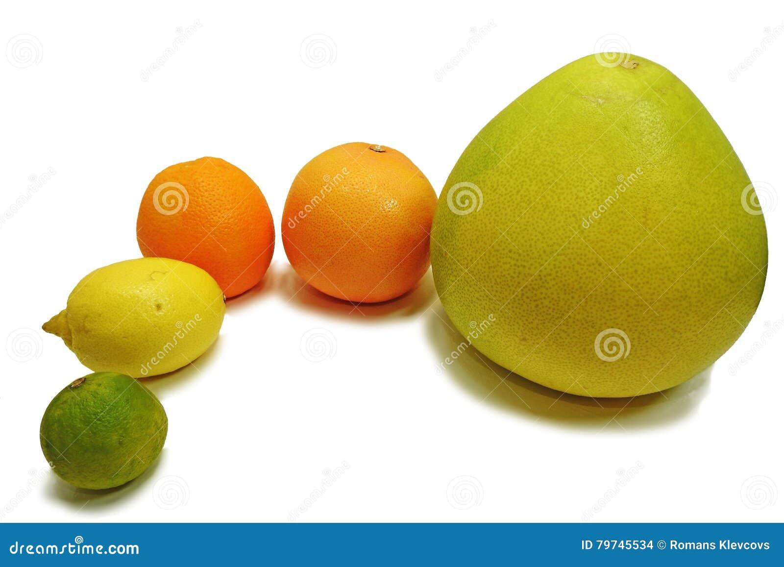 Frutas frescas de la fruta cítrica