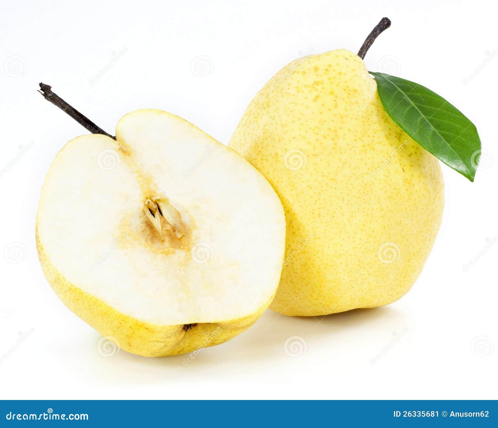 Frutas frescas de la pera