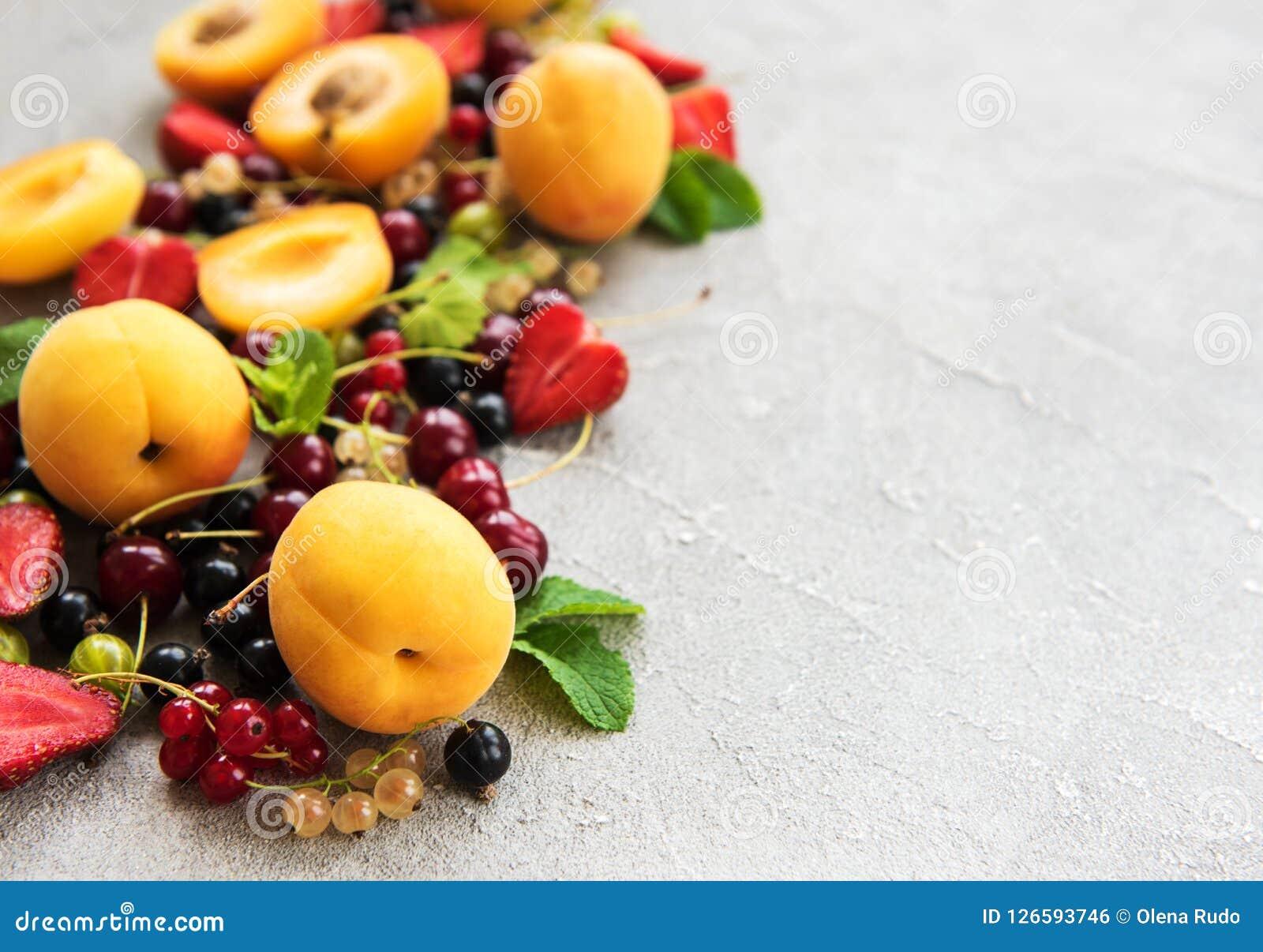 Frutas frescas del verano
