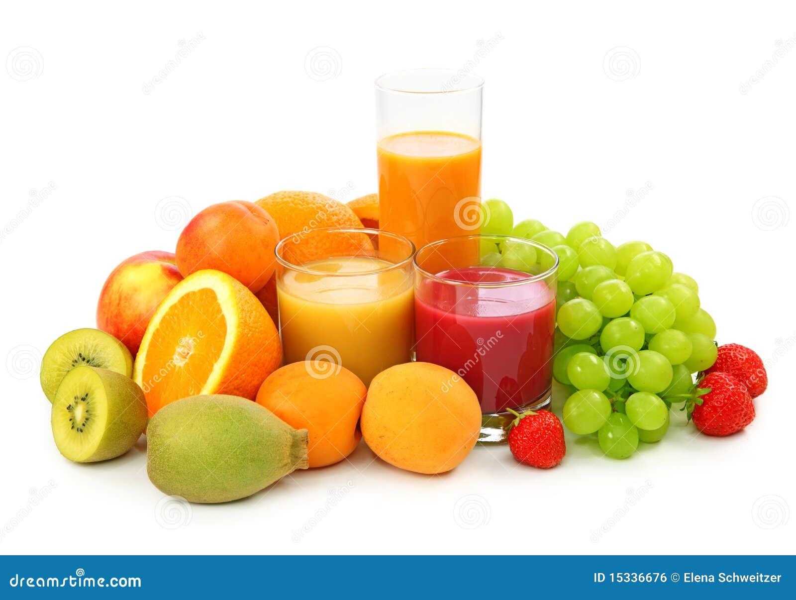 Frutas frescas y jugo