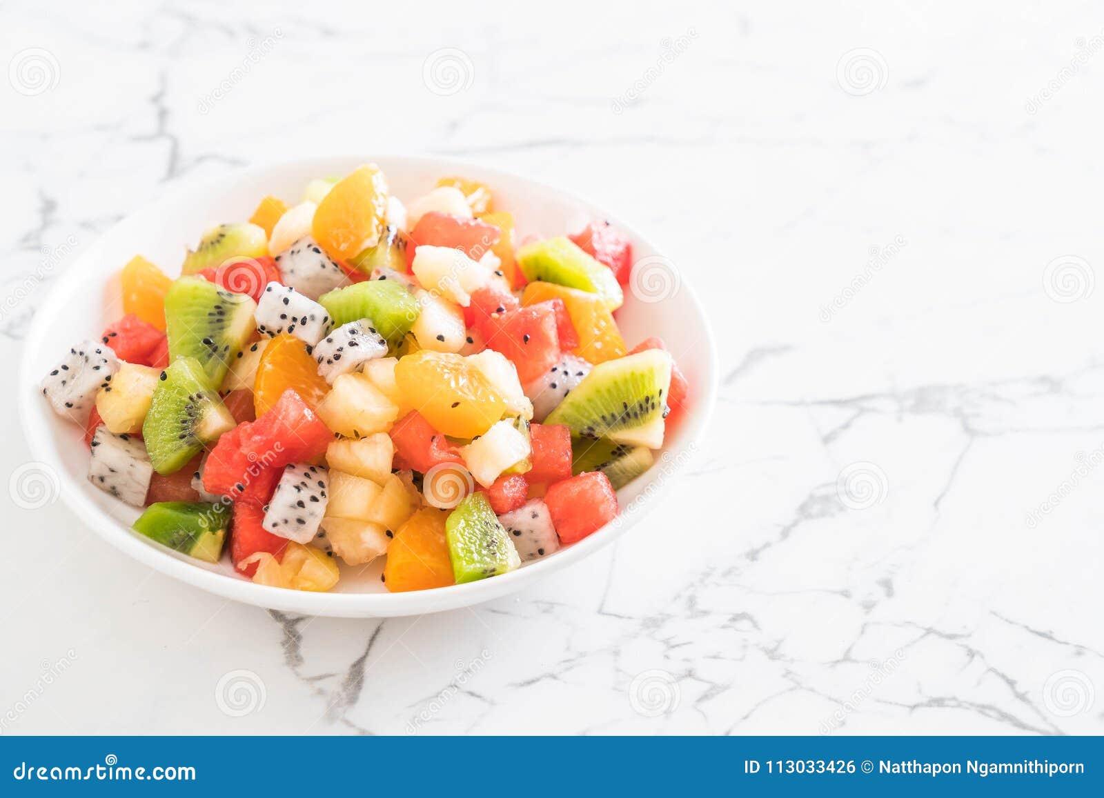 Frutas rebanadas mezcla