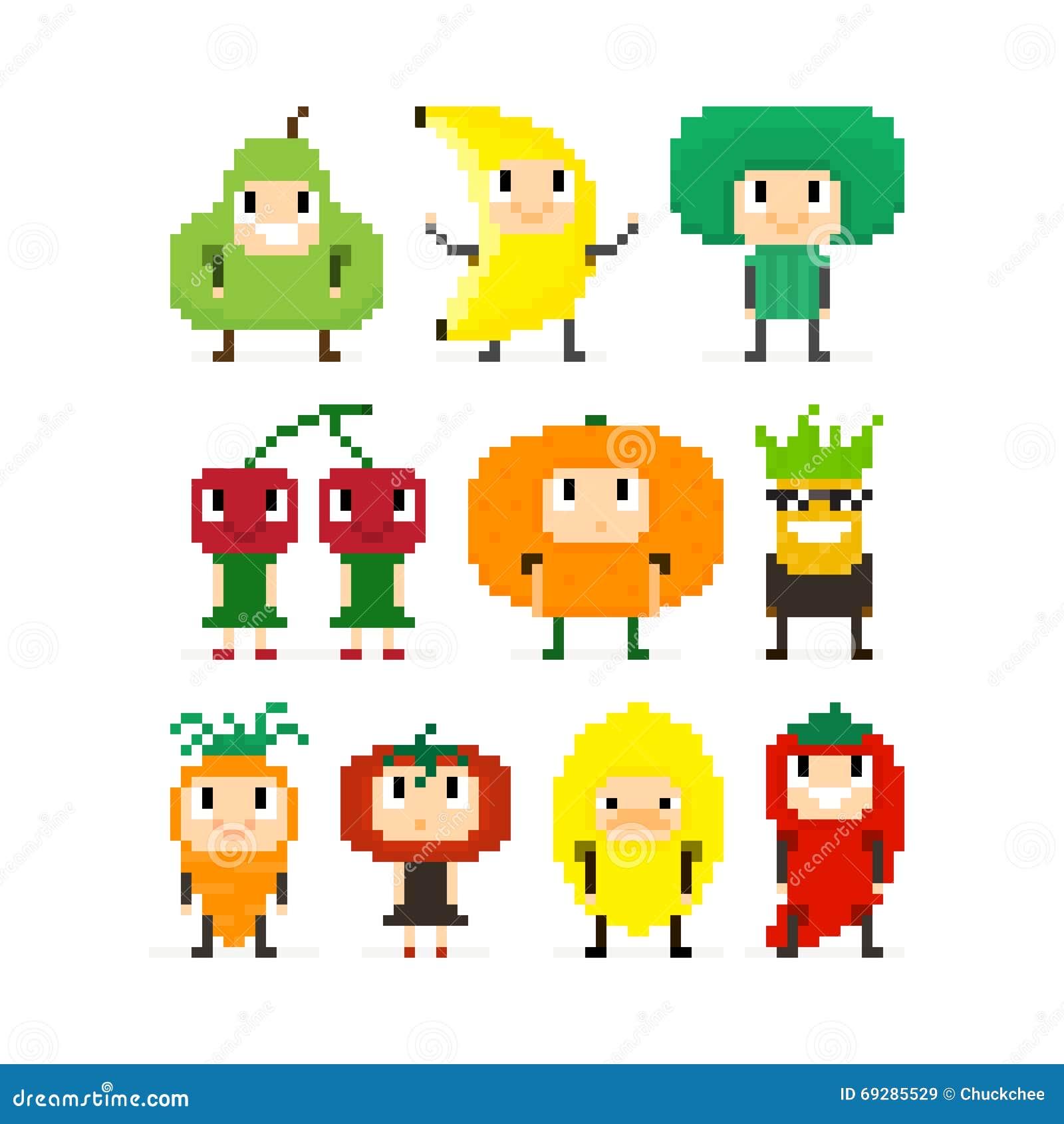 Frutas y Veges del pixel