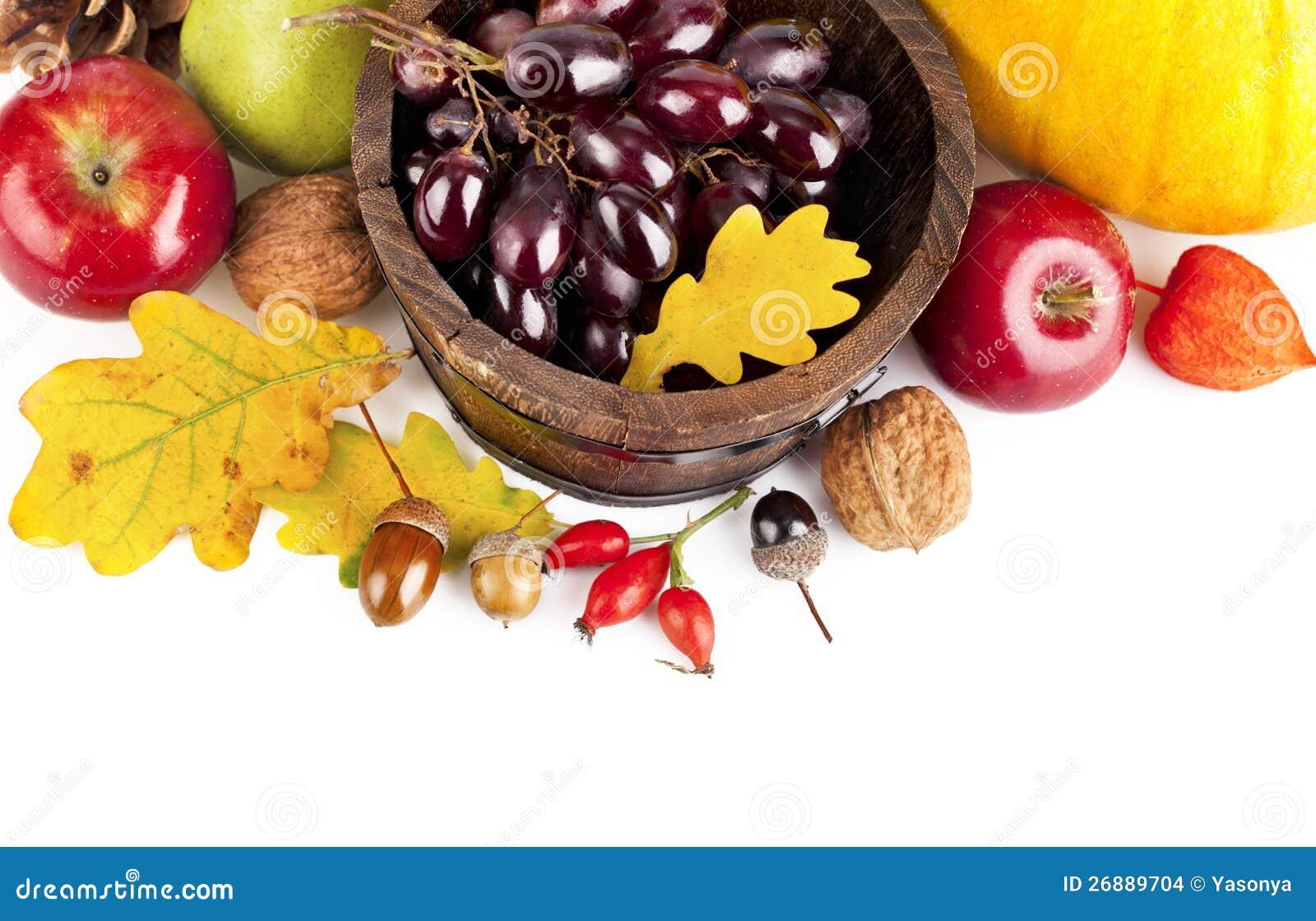 Frutas y verdura otoñales de la cosecha