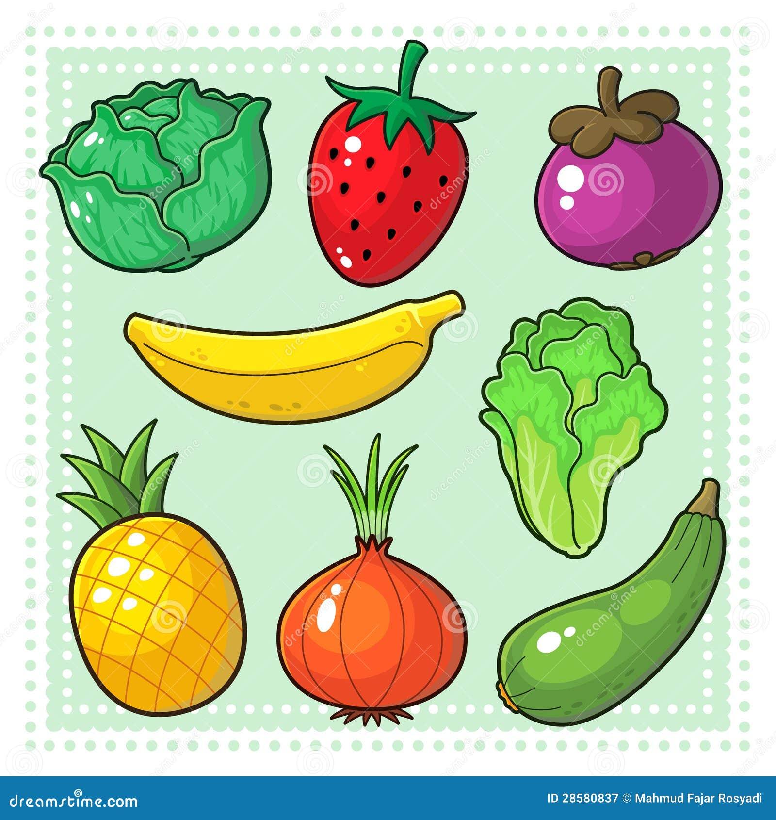 Frutas Y Verduras 03 Ilustracion Del Vector Ilustracion De