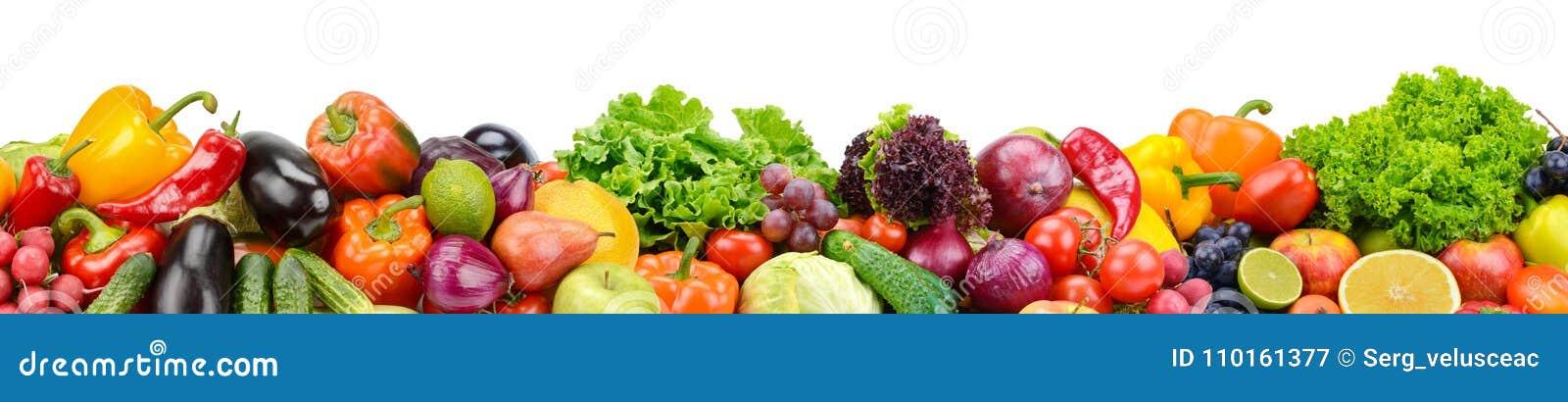 34cbe4547619 Frutas Y Verduras Frescas De La Colección Panorámica Para La ISO Del ...